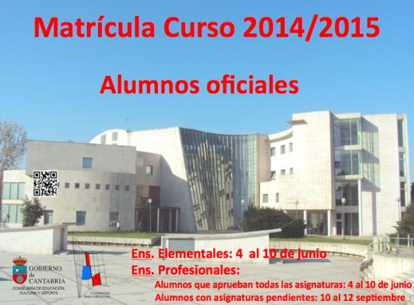 matrícula 2014-2015